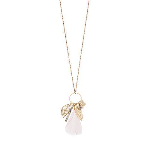 Mudd® Leaf Charm Tassel Pendant Necklace