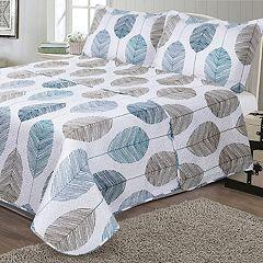 Journee Home Printed 3-piece Reversible Quilt Set