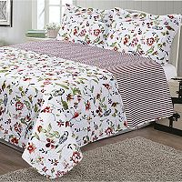 Journee Home Printed 3-piece Reversible Quilt Set