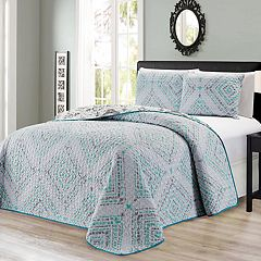 Journee Home Printed 3-piece Reversible Bedspread Set