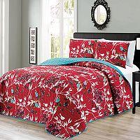 Journee Home Printed 3 pc Reversible Bedspread Set
