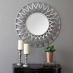 Stratton Home Decor Round Starburst Wall Mirror