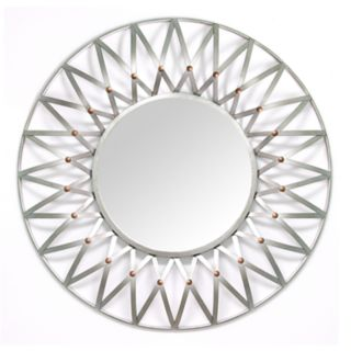 Stratton Home Decor Round Starburst Wall Mirror