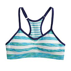 Girls 7-16 Maidenform Racerback Seamless Striped Bra