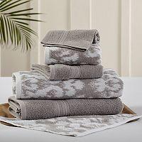 Allure 6-piece Ikat Damask Reversible Jacquard Bath Towel Set