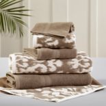 Allure 6-piece Ikat Damask Reversible Jacquard Bath Towel Set