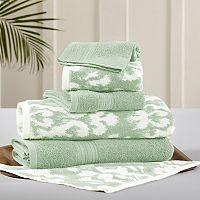 Allure 6 pc Ikat Damask Reversible Jacquard Bath Towel Set