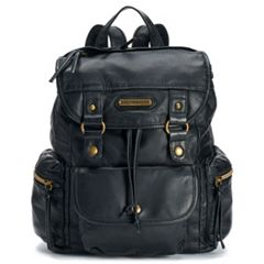 Stone & Co. Drawstring Flap Mini Backpack