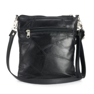 Stone & Co. Stitched Patchwork Leather 3-Bagger Convertible Crossbody Bag