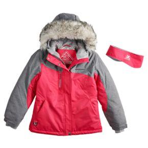 Girls 7-16 ZeroXposur Kareena Snowboard Heavyweight Jacket with Headband