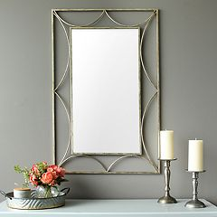 Stratton Home Decor Rectangular Wall Mirror