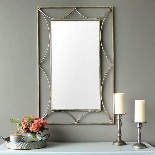 Stratton Home Decor Rectangular Wall Mirror