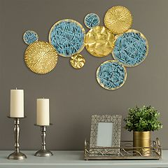 Stratton Home Decor Gold Finish Circles Wall Decor