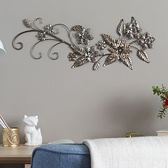 Stratton Home Decor Flowers & Leaves Wall Decor