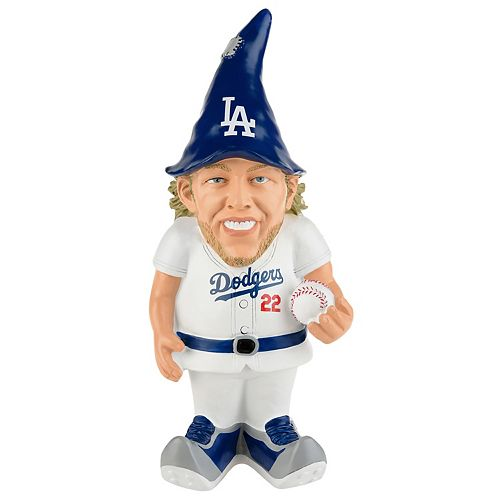 Forever Collectibles Los Angeles Dodgers Clayton Kershaw Resin Player Gnome