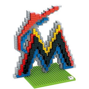 Forever Collectibles Miami Marlins BRXLZ 3D Team Logo Puzzle Set