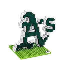 Forever Collectibles Oakland Athletics BRXLZ 3D Team Logo Puzzle Set