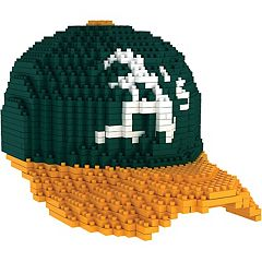 Forever Collectibles Oakland Athletics BRXLZ 3D Baseball Cap Puzzle Set
