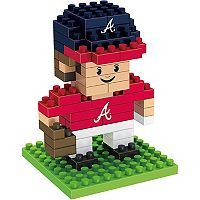 Forever Collectibles Atlanta Braves Mini BRXLZ 3D Player Puzzle Set