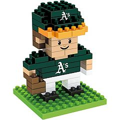 Forever Collectibles Oakland Athletics Mini BRXLZ 3D Player Puzzle Set