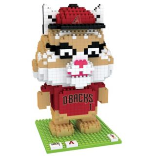 Forever Collectibles Arizona Diamondbacks BRXLZ 3D Mascot Puzzle Set