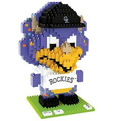 Forever Collectibles Colorado Rockies BRXLZ 3D Mascot Puzzle Set