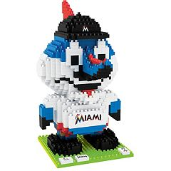 Forever Collectibles Miami Marlins BRXLZ 3D Mascot Puzzle Set