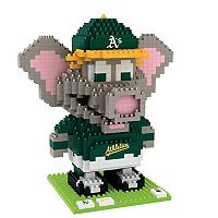 Forever Collectibles Oakland Athletics BRXLZ 3D Mascot Puzzle Set