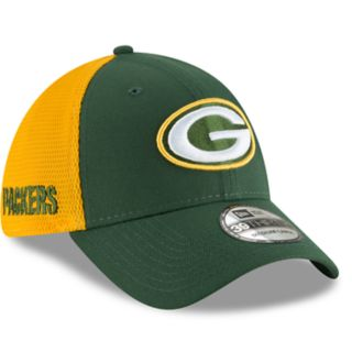 Adult New Era Green Bay Packers 39THIRTY Sided Flex-Fit Cap