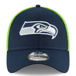 Adult New Era Seattle Seahawks 39THIRTY Sided Flex-Fit Cap