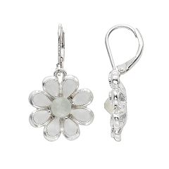 Napier Flower Drop Earrings
