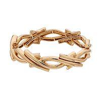 Napier Gold Tone Stretch Bracelet