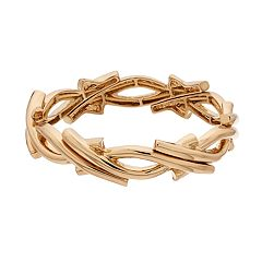 Napier Gold Tone Stretch Bracelet