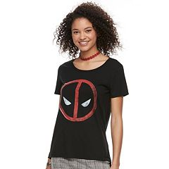 Juniors' Deadpool Logo Graphic Tee