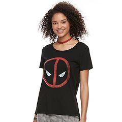 Juniors' Deadpool Logo Graphic Tee