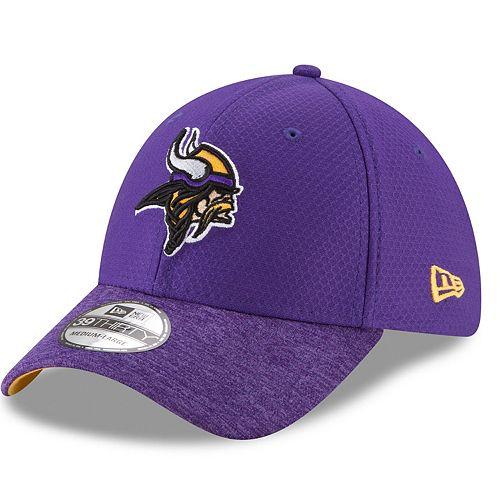 Adult New Era Minnesota Vikings 39THIRTY Popped Shadow Flex-Fit Cap