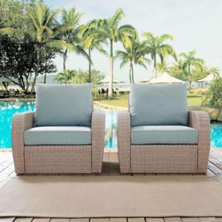 Crosley Furniture St. Augustine Patio Wicker Arm Chair 2-piece Set