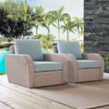 Crosley Furniture St. Augustine Patio Wicker Arm Chair 2-piece Set
