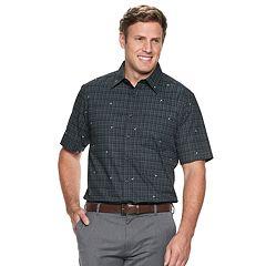 Big & Tall Haggar Modern-Fit Woven Button-Down Shirt