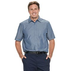 Big & Tall Haggar Modern-Fit Woven Button-Down Shirt