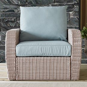 Crosley Furniture St. Augustine Outdoor Patio Wicker Arm Chair