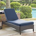 Crosley Furniture Palm Harbor Patio Wicker Chaise Lounge Chair