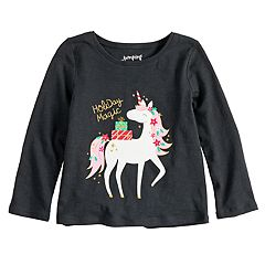 Toddler Girl Jumping Beans® Long Sleeve Holiday Graphic Tee