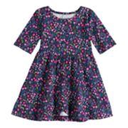 Toddler Girl Jumping Beans® Print Tulip-Hem Dress