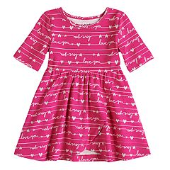 Toddler Girl Jumping Beans® Print Tulip-Hem Dress