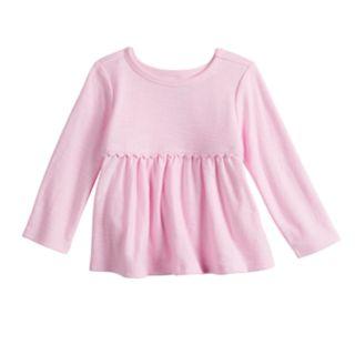 Baby Girl Jumping Beans® Crochet Babydoll Tee