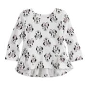 Disney's Minnie Mouse Baby Girl High-Low Print Tee by Jumping Beans®