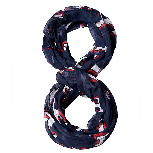 Forever Collectibles Texas Rangers Team Logo Infinity Scarf
