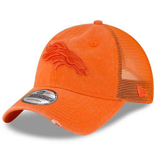 Adult New Era Denver Broncos 39THIRTY Tonal Washed Flex-Fit Cap