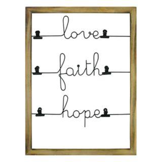 """Stratton Home Decor """"Love"""" Photo Clip Wall Decor"""